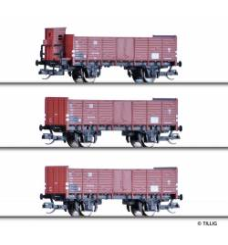 Set 3 wagonów towar. GIP2, DR ep.III - Tillig TT 01684