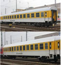 "Set 2 wagonów""DB Messtechnik"",DBAG ep.VI - Tillig TT 01686"