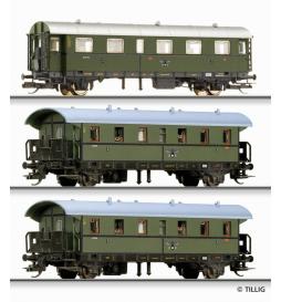 E15 Zestaw wagonów osobowych, DRG ep.II - Tillig TT 01689