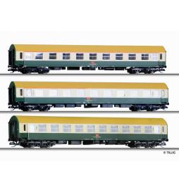 Zestaw wagonów osobowych Y/B70, DBAG ep.V - Tillig TT 01699