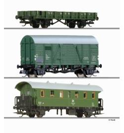 Zestaw Wagony budowlane, DR ep.IV - Tillig TT 01705
