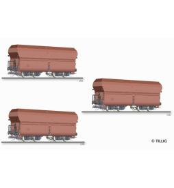 E15 Zestaw wagonów samowyład., DRG ep.II - Tillig TT 01708