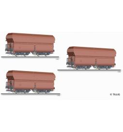 E15 Zestaw wagonów samowyład., DR ep.III - Tillig TT 01709