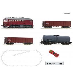 Roco 51331 - Zestaw cyfrowy z21® start: Lokomotywa spalinowa class 120 z pociągiem towarowym, DR, epoka IV