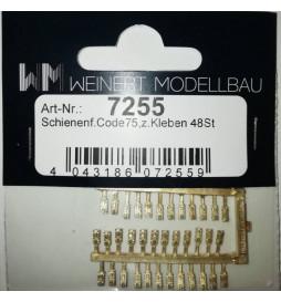 Weinert 74356 - Podkładki ruchome Glp19 z uchwytem kierownicy do samodzielnej budowy rozjazdów, MeinGleis Code 75, 14 szt.