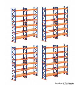 Kibri 38613 - H0 Deco-set Pallet shelving system, 4 pieces