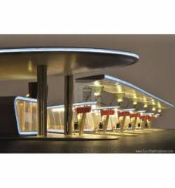 kibri 39000 - H0 Modern bus terminal, complete setincl. LED lighting