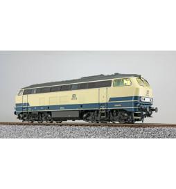 ESU 31001 - Diesellok, H0, BR 216, 216 100 DB, ozeanblau/beige, Ep IV, Vorbildzustand um 1978, Sound+Rauch, DC/AC