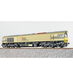 ESU 31285 - Diesellok H0, C77 HSL Logistik 653-07, Ep VI, Vorbildzustand um 2018, Gold, Sound+Rauch, DC/AC