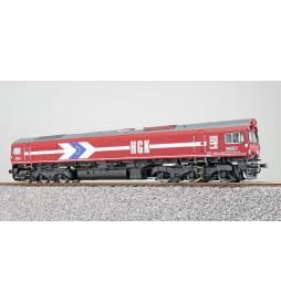ESU 31288 - Diesellok H0, C66 HGK 9901, Ep V, Vorbildzustand um 2000, Rot, Sound+Rauch, DC/AC