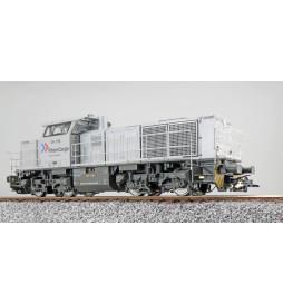 ESU 31301 - Diesellok, H0, G1000, DH 708 RheinCargo, Silber, Ep VI, Vorbildzustand um 2018, Sound, Rangierkupplung, DC/AC