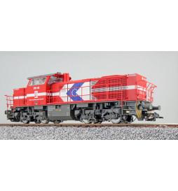 ESU 31302 - Diesellok, H0, G1000, DH 49 HGK, Verkehrsrot, Ep VI, Vorbildzustand um 2007, Sound, Rangierkupplung, DC/AC