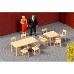 Auhagen 41671 - Tables, chairs