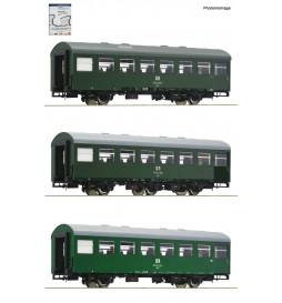Roco 74071 - Zestaw 3 wagonów pasażerskich Rekowagen DR, ep. IV