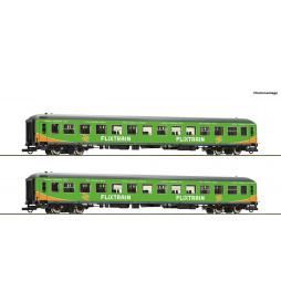 Roco 74090 - Zestaw 2 wagonów pasażerskich Flixtrain