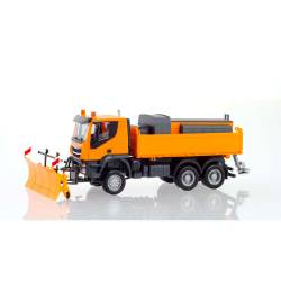 Herpa 310727 - Iveco Trakker do odśnieżania, kolor pomarańczowy