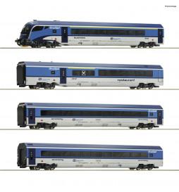 Roco 74064 - Zestaw 4 wagonów Railjet CD, epoka VI