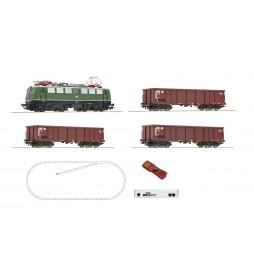 Roco 51330 - Cyfrowy zestaw startowy z21: Elektrowóz class 140 z wagonami towarowymi, DB, epoka IV