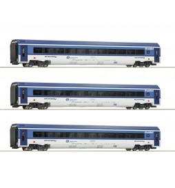 Roco 74067 - Zestaw 3 wagonów Railjet CD, epoka VI