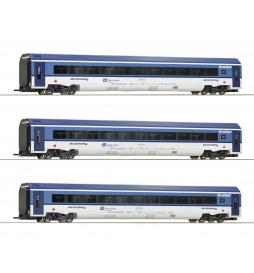Roco 74068 - Zestaw 3 wagonów Railjet CD, epoka VI