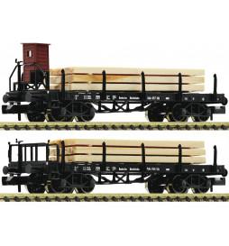 Fleischmann 828507 - Zestaw dwóch czteroosiowych wagonów kłonicowych typu SSk Koln Deutsche Reichsbahn Gesellschaft (DRG)