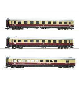 Roco 74073 - Zestaw 3 wagonów TEE 74/75 Roland DB, ep. IV (set 2)