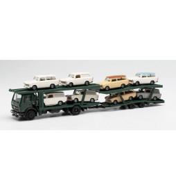 Herpa 941464 - Mercedes-Benz auto do transportu samochodów Trabant 601 ( 8 sztuk)