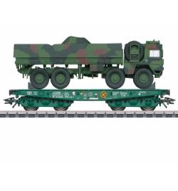 Marklin 048875 - Platforma ciężka Rlmmps z MAN