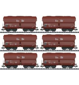 Trix 24150 -Zestaw wagonów do rudy Erz epoka IId