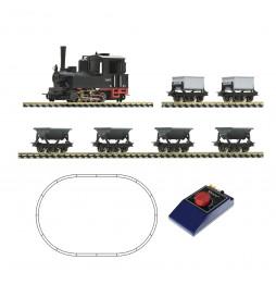 Roco 31035 -Zestaw startowy analogowy z parowozem oraz 6 wagonami ,skala H0e