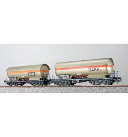 Pullman (ESU) 36528 - Zestaw 2 cystern 4-osiowych do gazu Zag 620,DB ep. IV, EVA+EVA