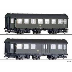 Tillig TT 01051 - Passenger coach set of the DB, with two passenger coaches, Ep. IV