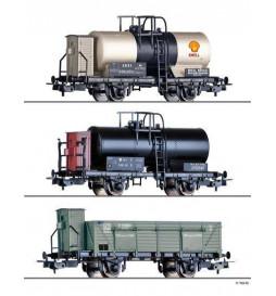 Tillig H0 070051 - Zestaw 3 wagonów towarowych lokalnej kolei debreczyńskiej