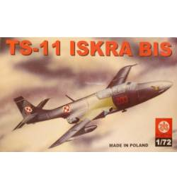 Plastyk PLK016 - PZL TS-11 Iskra BIS, Samolot do sklejania, 1:72