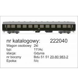 Robo 222010 - Wagon osobowy 2kl 111A typ Y, St. Szczecin, ep. IVb