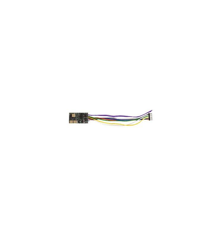 Dekoder jazdy i dźwięku MX648F (1W) DCC NEM651 6-pin z przewodami