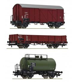 Roco 76018 - 3 piece set: Goods train CSD, ep. III