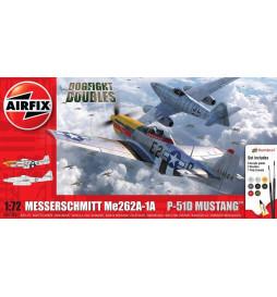 Airfix 50183 - Zestaw podarunkowy: Messerschmitt Me262 oraz Mustang P51-D