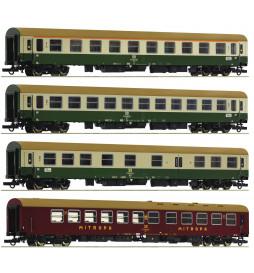 Roco 74189 - Zestaw 4 wagonów pasażerskich D 375 Vindobona DR, ep. IV-V