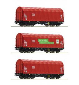 Roco 76011 - Zestwa 3 wagonów z plandekowych DB-AG, ep. VI