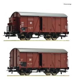 Roco 76012 - Zestaw 2 wagonów towarowych DR, ep. III