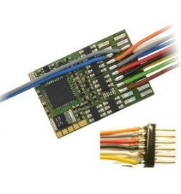 Dekoder jazdy i oświetlenia Zimo MX633F (3W) DCC 6-pin z przewodami